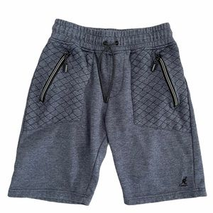 KANGOL Men/Boy Blue Fleece Jogger Short Blue Small